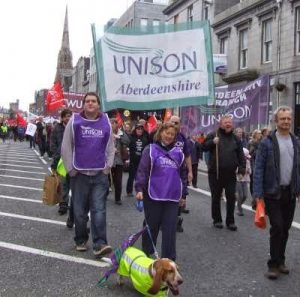 UNISON members march for May Day 2013