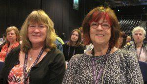 Branch delegates, Kate Ramsden and Ann Gray