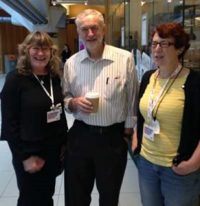 With Jeremy Corbyn, MP Leader of the Labour Party