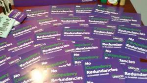 Signed pledge cards