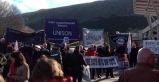 Banner at Scottish Parliament