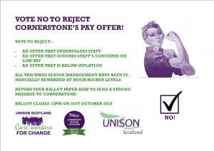 Cornerstone Vote No poster