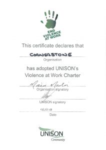 thumbnail of Cornerstone – Violence at Work Agreement