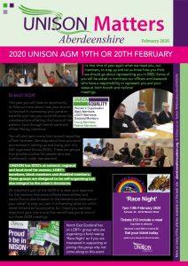thumbnail of UNISON newsletter Feb 2020 WEB