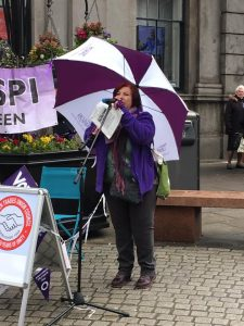 Laura McDonald of Grampian Health UNISON who chaired the event
