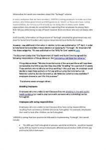 thumbnail of Furlough information for social care workers