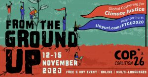 Please join COP 26 Trade Union Events 12 to 16 November 2020