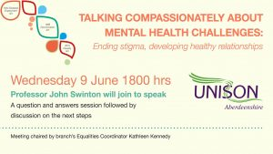 Talking compassionately about mental health challenges: Ending stigma, developing healthy relationships - 9th June at 6pm