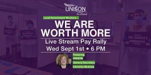 Pay Rally poster