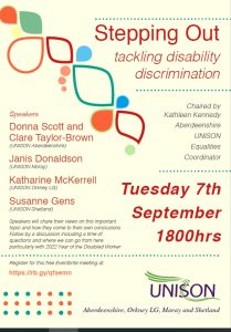 Stepping Out - tackling disability discrimination