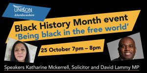 Join us for our celebration of Black History Month with Kay Mckerrell and David Lammy MP