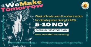 COP26 Coalition Trade Union Meeting – Briefing for trade unions